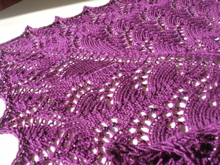 Pattern: Swallowtail Shawl Yarn: Morris Empire 4ply