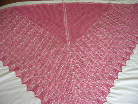 Brangian Shawl blocking